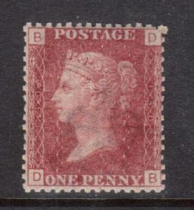 Great Britain #33 VF/NH Plate 100