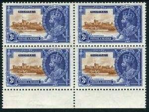 GIBRALTAR-1935 3d Brown & Deep Blue EXTRA FLAGSTAFF lightly mounted mint Sg 115a