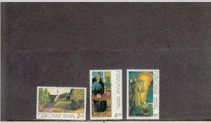 FAROE ISLANDS 284-286 MNH 2014 SCOTT CATALOGUE VALUE $3.95