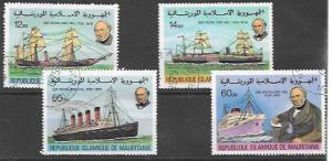 Mauritania  1979 Sir Rowland Hill early and modern ships