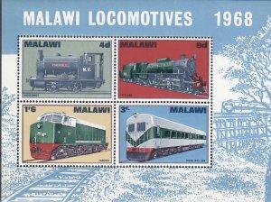 Malawi, Sc 90a , MNH, 1968, Locomotives