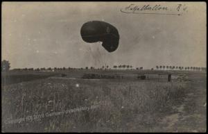 Germany WWI Inf Regt 85 Feldpost Cover Barrage Balloon Fesselballon RPPC 69659