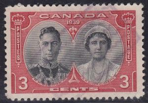 Canada 248 USED 1939 Royal Visit Tour Issue 3¢