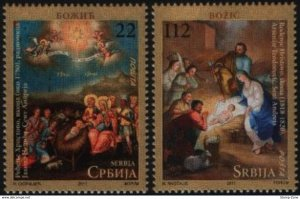 Stamps Serbia, 2011, Christmas , Set, MNH, Mi# 439/40
