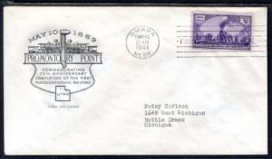 US 922 Railroad House of Farnam Typed FDC