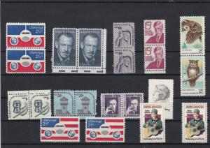 United States America Mint Never Hinged Stamps some Pairs ref 22169