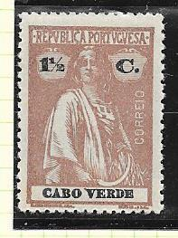 Cape Verde #147  1 1/2c  Ceres lilac brown  (MH) CV$0.75