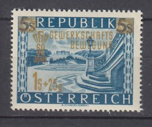 J29512, 1953 austria set of 1 mh #b280 ovpt