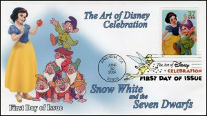 AO-3915–1, 2005, The Art of Disney Celebration, Digital Color Postmark, Snow