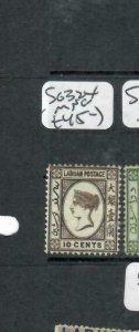 LABUAN (P1811B)  QV CAMEO ISSUE 10C  SG   32X     MNG