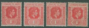 Leeward Islands SC#105-105c King George VI, 1d, MH SCV $9.35