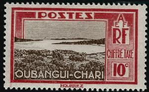 Ubangi-Shari Postage Due (Sc J13) F-VF Mint OG hr..French Colonies are Hot!