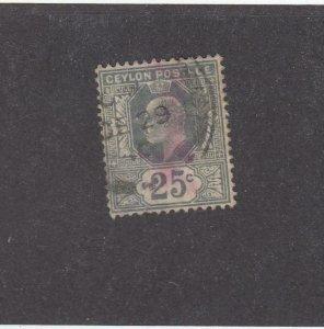 CEYLON (MK4047)  # 189  VF-USED  50c  KING EDWARD VII / BROWN /1910