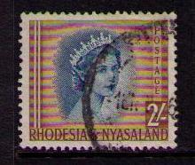 RHODESIA NYASALAND Sc# 151 USED FVF Queen Elizabeth II