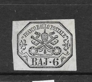 ROMAN STATES 1852-67 6b GREY MLH  SIGNEDx2   Sc 7a