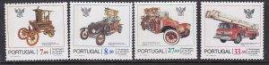 PORTUGAL^^^^^^sc#1516-19 MNH set  ( ANTIQUE CARS) $$@ lar805port