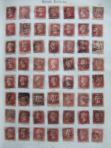 QV 1858 1d red plates 114-171