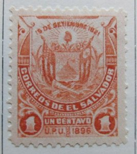 A6P37F25 Salvador 1897 Unwmk 1c mh*