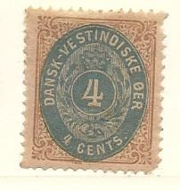 Danish West Indies #7  (MNG) CV $16.00