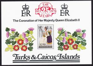 Turks and Caicos 25th Anniversary of Coronation MS SG#MS498 SC#346