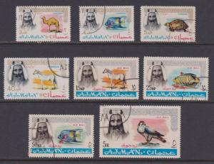 8 Different Ajman Postage & Airmail Wildlife F-VF CTO / Used - I Combine S/H