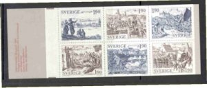 Sweden Sc 1513a 1984 Medievil Towns stamp booklet mint NH