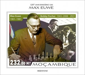 Mozambique 2021 MNH Chess Stamps Max Euwe Dutch Player Games Sports 1v S/S III