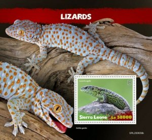 Sierra Leone - 2020 Sand Lizards - Stamp Souvenir Sheet - SRL200639b