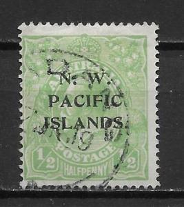 North West Pacific Islands 40 1/2d KGV single Used