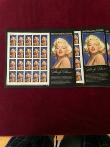 (10) #2967 Marilyn Monroe MINI-sheets