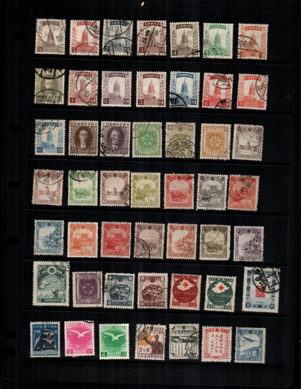 Manchukuo  49 diff Used and mint  hinged
