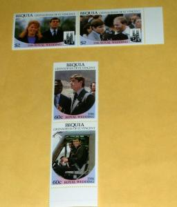 St. Vincent-Bequia - 232-5, MNH Set -Royal Wedding.SCV-$2.40