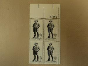USPS Scott 1242 5c 1964 Sam Houston Plate Block 4 Stamps ...