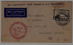 Germany/Brazil Zeppelin cover 18.5.30