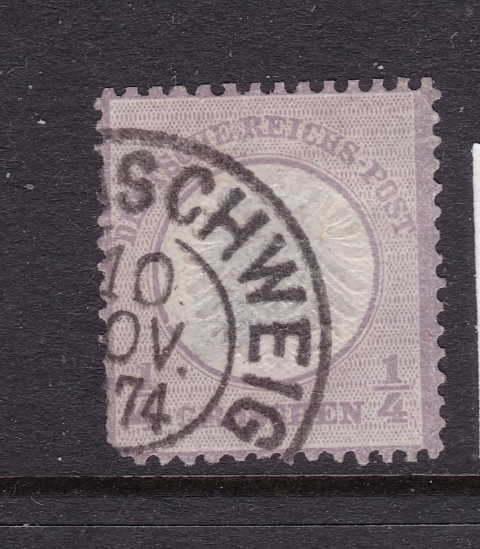 Germany a 1/4 gr large shield used (1872)