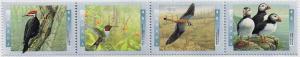 Canada Mint VF-NH #1594a Birds of Canada strip/4
