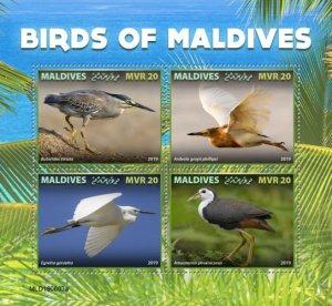 MALDIVES - 2019 - Birds of the Maldives - Perf 4v Sheet - MNH