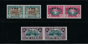 SOUTH WEST AFRICA SCOTT #B9-B11 1939 SEMI-POSTAL HUGUENOT MONUMENT- MINT LH/HR