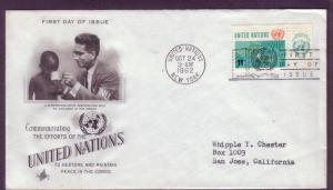 United Nations FDC Sc. #  111 Peace in the Congo   L16