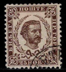 Montenegro Scott 21 Used  CTO Prince Nicholas 1893 late printing perf 10.5