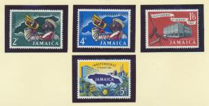 Jamaica Scott #181 To 184, Commemorative Issue From 1962, Collectible Postage...