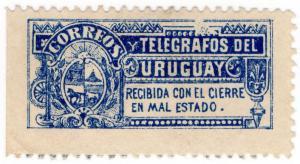 (I.B) Uruguay Telegraphs : Envelope Seal