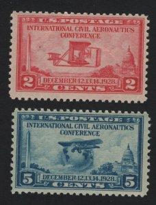 United States MINT Scott Number 649-50 MLH F-VF  - BARNEYS