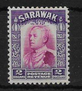 SARAWAK-JAP.OCC. SGJ22 1942 $2 BRIGHT PURPLE & VIOLET MTD MINT