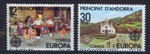 ANDORRA SPANISH 1981 MNH SC.126/127  Europa CEPT