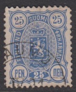 Finland - Scott 42 - Definitive -1889- FU - Single 25p Stamp