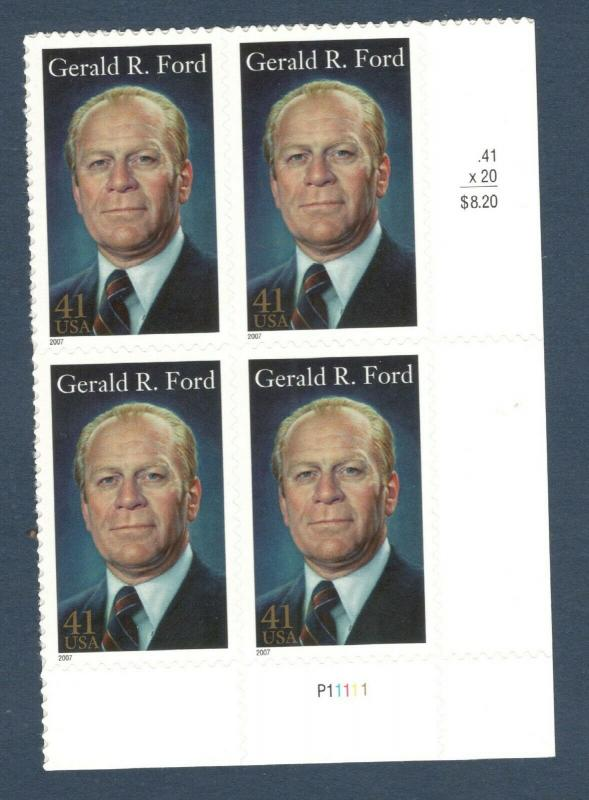 4199 Gerald R. Ford Plate Block Mint/nh (Free Shipping)