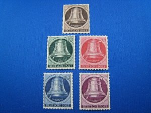GERMAN STATES STAMPS - 1951 BERLIN - SCOTT # 9N70-9N74 - MNH
