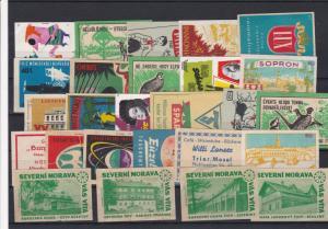 Czechoslovakia Match box Label Stamps Ref 28608