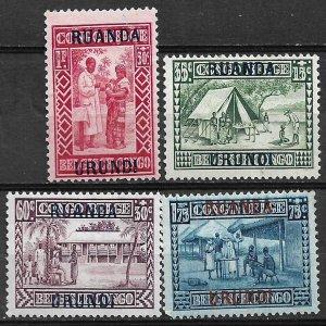 COLLECTION LOT OF # 796 RUANDA URUNDI 4 SEMI POSTAL MH STAMPS 1930